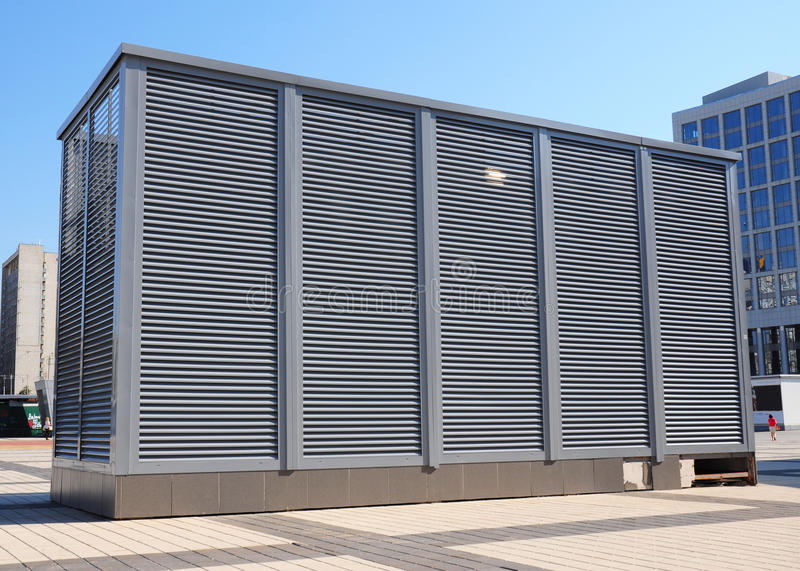 Industrial air conditioning and ventilation systems. Ventilation system of factory. HVAC as Heating Ventilating Air Conditioning. AC-heater stock photos