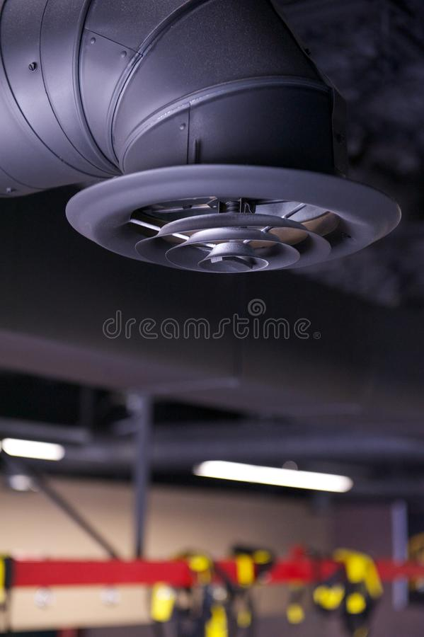 Industrial Air Duct And Vent Vertical Stock Photo Image