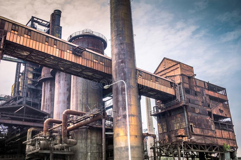 Industrial architecture of ironworks in Lower Vitkovice, Ostrava. Town, Czech Republic, Europe royalty free stock photo