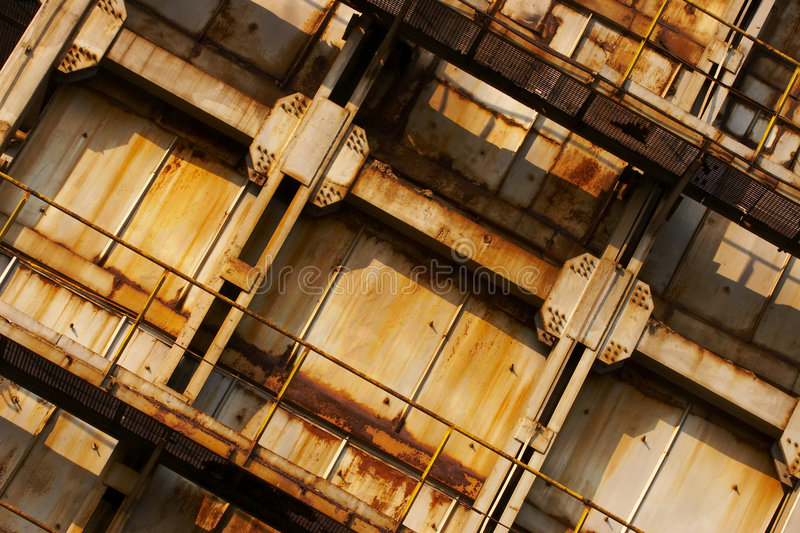 Industrial area. A wall from an industrial area royalty free stock image
