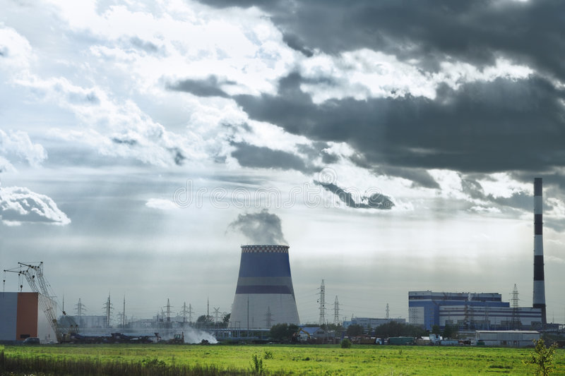 Industrial area stock photography