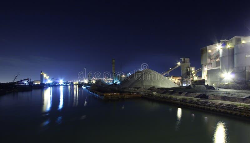 Industrial area, nightshot. Illinois industrial area, nightshot royalty free stock images