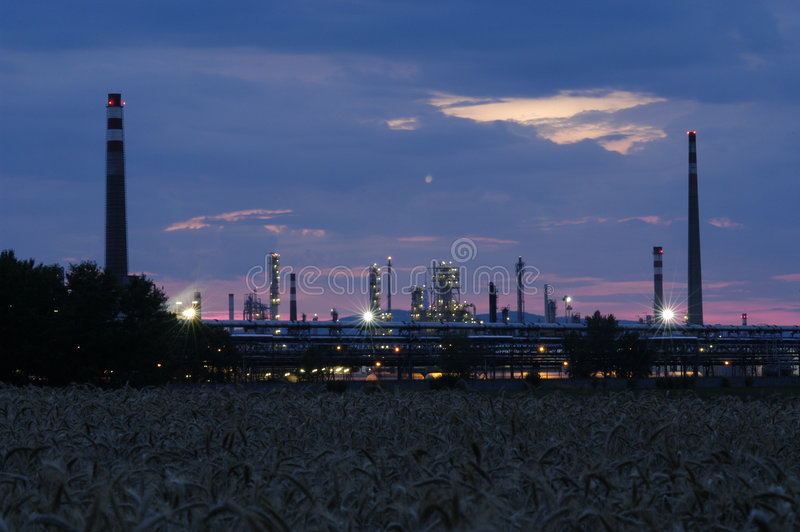 Download Industrial Area - Petroleum Refinery Stock Image - Image: 1328753