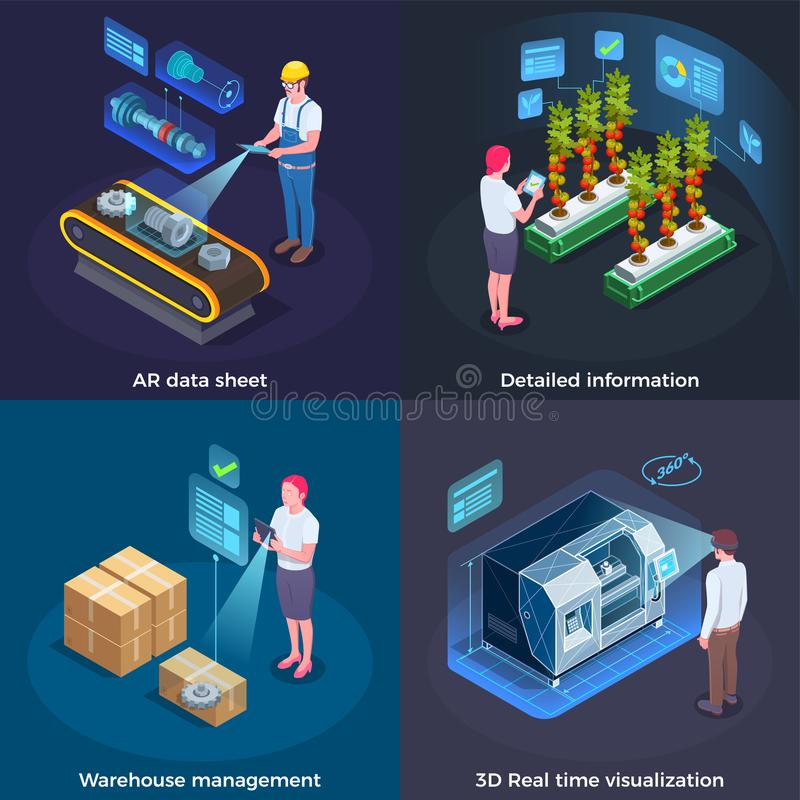 Industrial Augmented Reality Concept vector illustration
