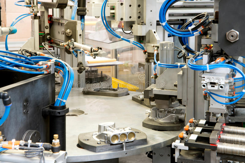 Industrial automation. Automatic lines and robotic royalty free stock photo