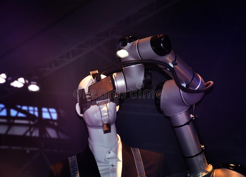 Industrial automation robotics. And advanced technologies concept royalty free stock images