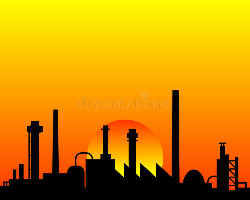Download Industrial background stock vector. Illustration of buildings - 25347689