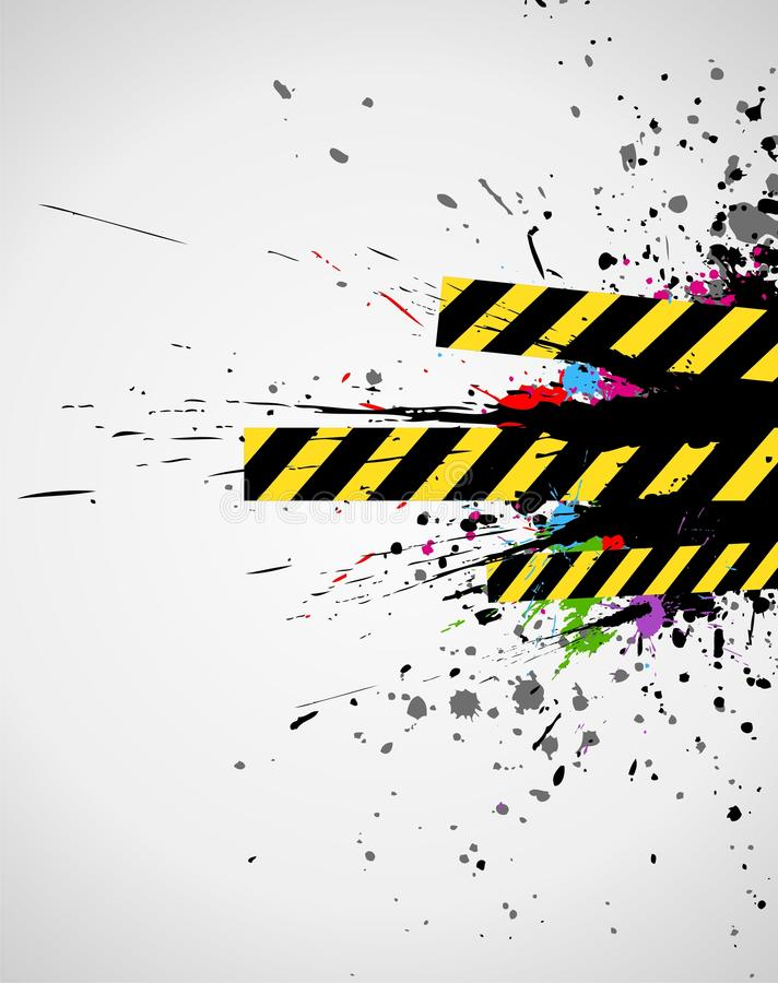 Industrial background. Abstract industrial background with grunge splash in colorful stock illustration