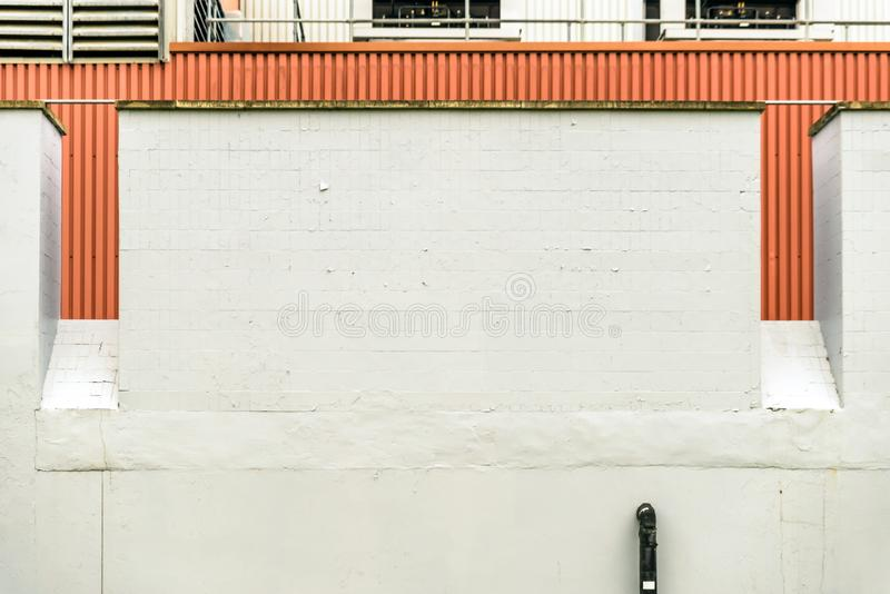Industrial background of bright factory wall in uk.  royalty free stock images