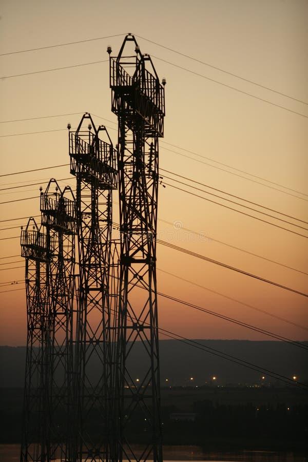 Power pole, power tower stock photos