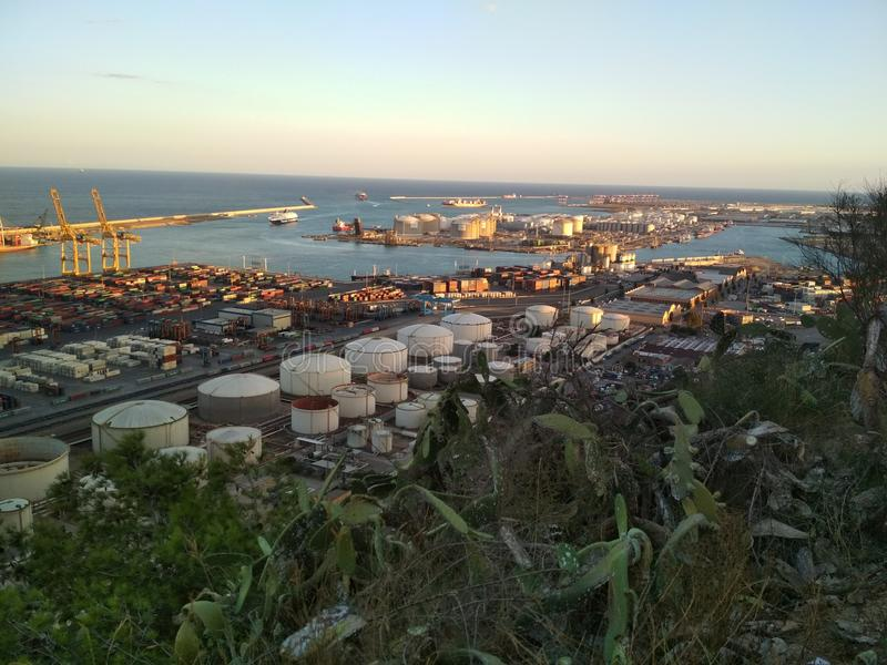 Industrial Barcelona royalty free stock images