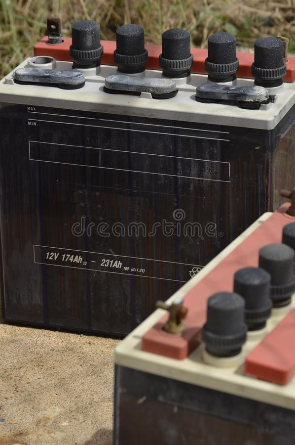 Industrial batteries stock photos
