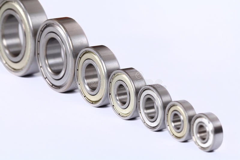Industrial bearings. On a white background stock photo