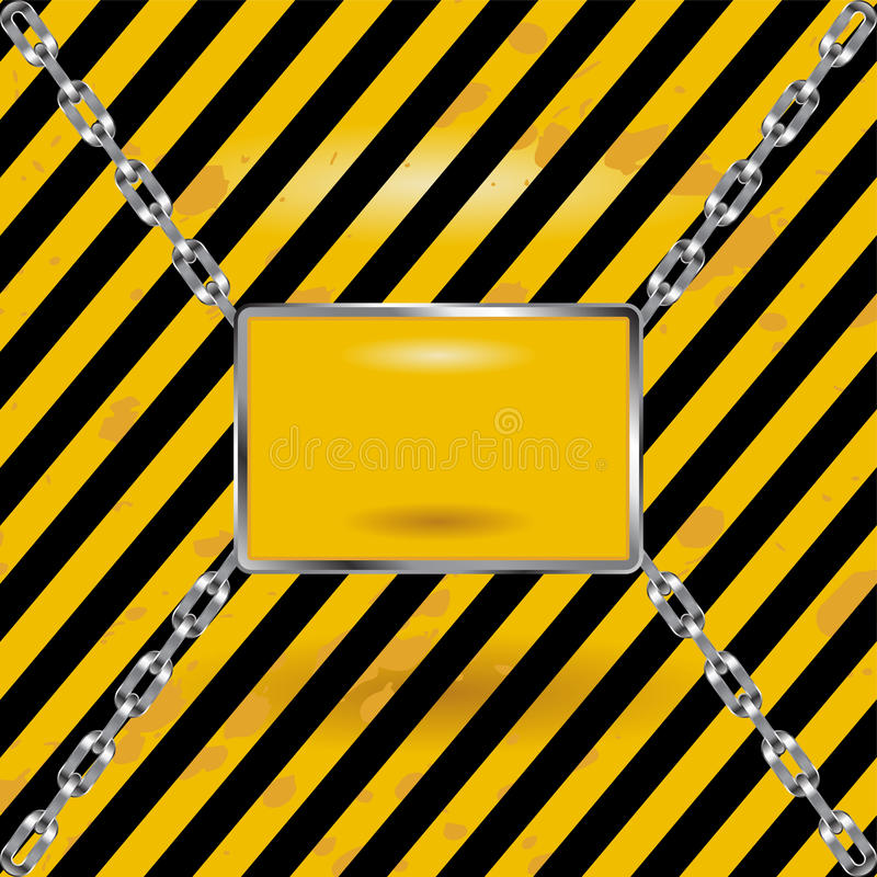 Download Industrial blank sign stock vector. Image of threat, caution - 19995106