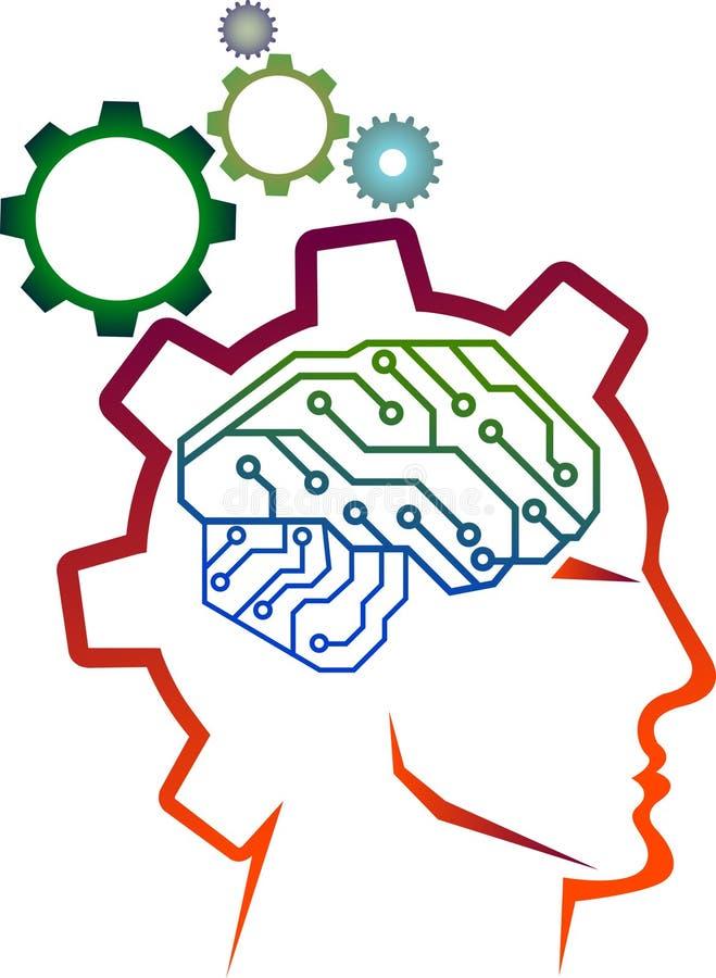Industrial brain vector illustration
