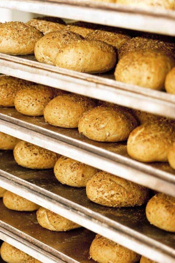 Industrial bread bakery stock photo