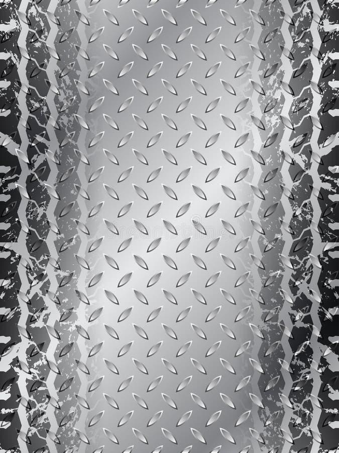 Industrial brochure design with tire track stock vector image 42726312 - Tire tread wallpaper ...