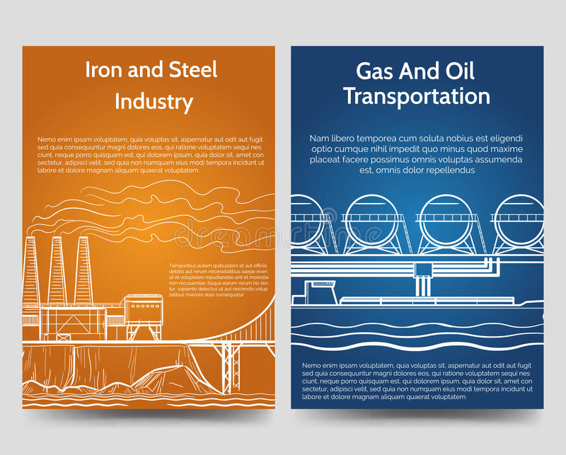 Industrial Brochure Flyers Template Stock Photo Image Of Banner