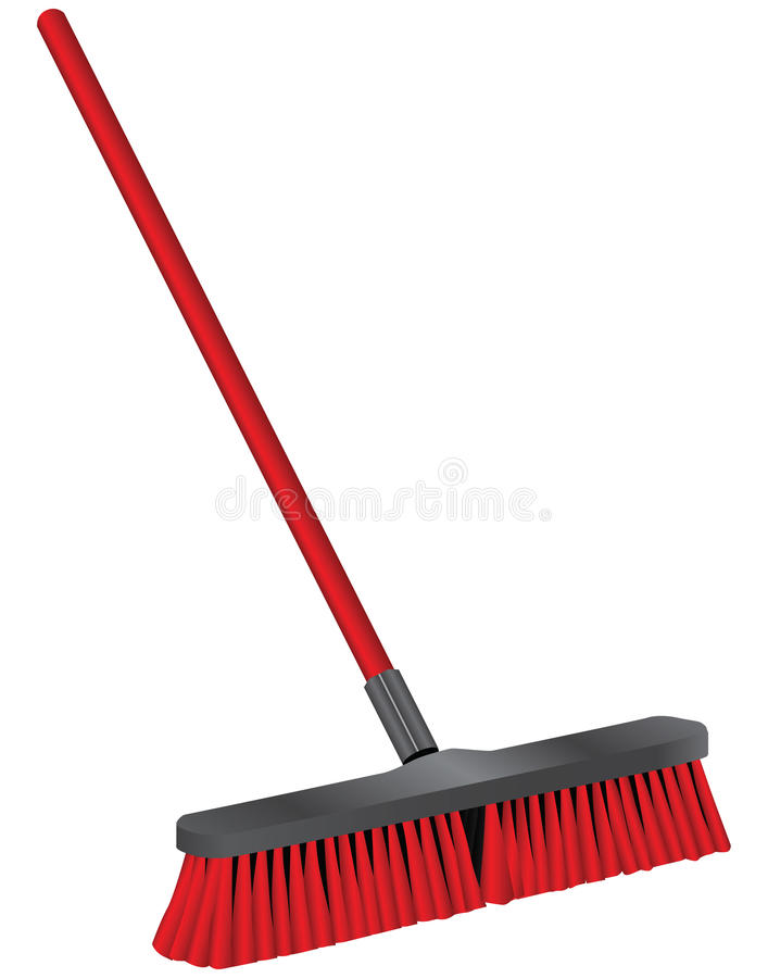 Industrial brush for cleaning vector illustration
