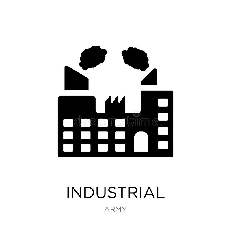 Industrial building with contaminants icon in trendy design style. industrial building with contaminants icon isolated on white. Background. industrial building vector illustration