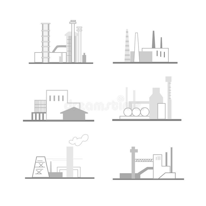 Industrial buildings and structures stock illustration