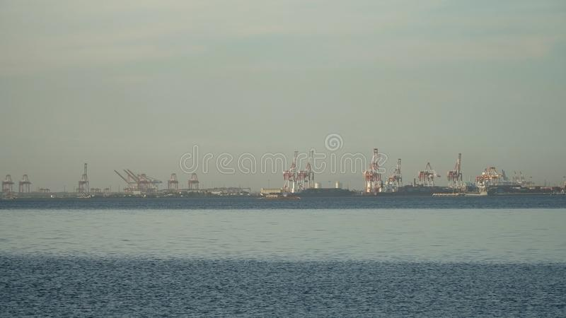Cargo industrial port. Manila, Philippines. royalty free stock photography