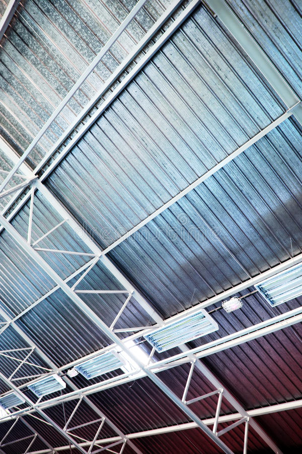 Download Industrial Ceiling stock photo. Image of metallic, metal - 26117592