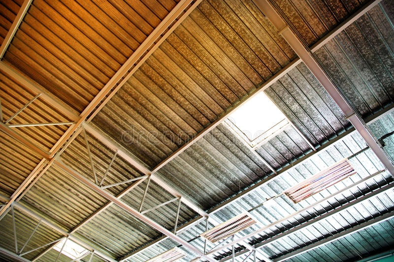 Download Industrial Ceiling stock photo. Image of interior, chrome - 26272456
