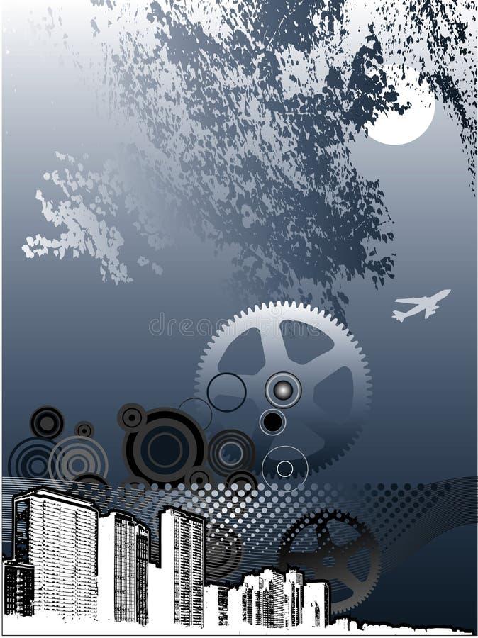 Industrial city background vector illustration