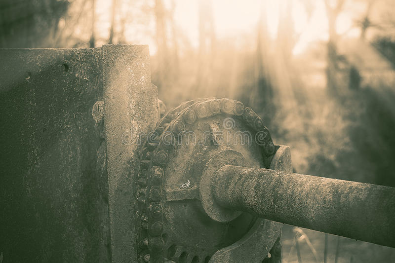 Industrial Cog on Dam royalty free stock image