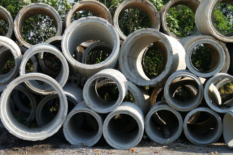 Download Industrial concrete pipe stock image. Image of hole, pile - 31321173