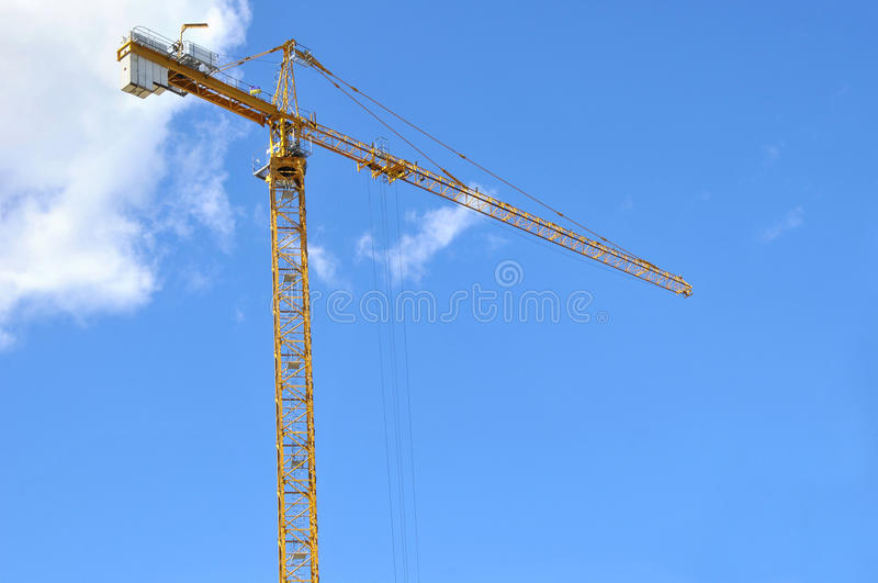 Industrial construction building crane royalty free stock images