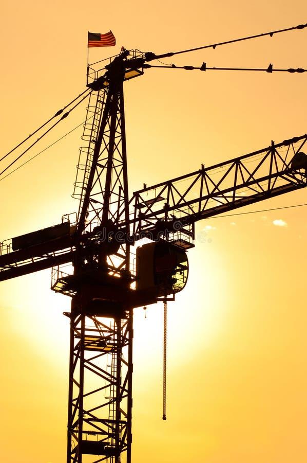 Industrial construction crane stock image