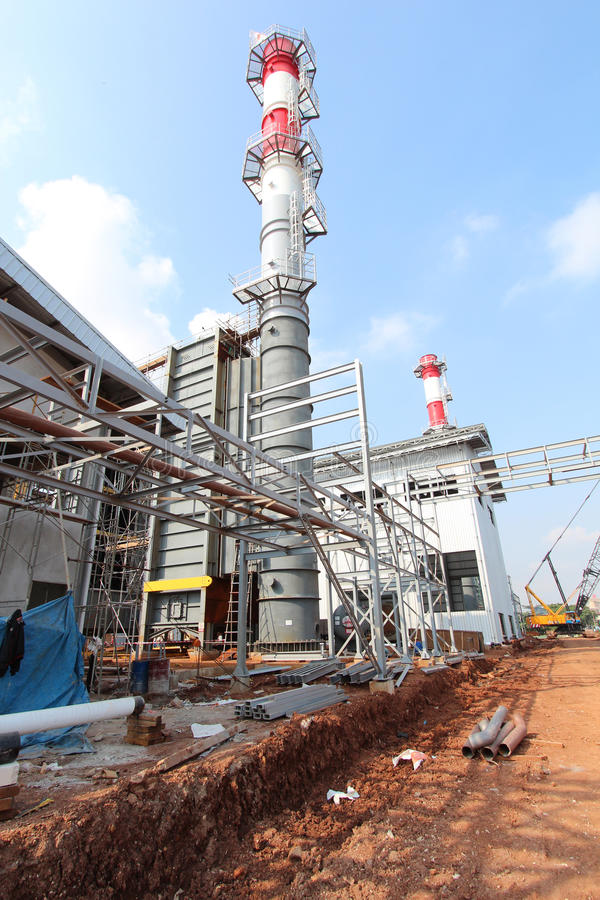 Industrial Construction Power Plant royalty free stock photography
