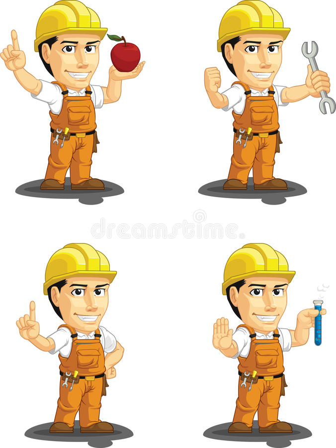 Download Industrial Construction Worker Customizable Mascot Stock Photo - Image: 34692200