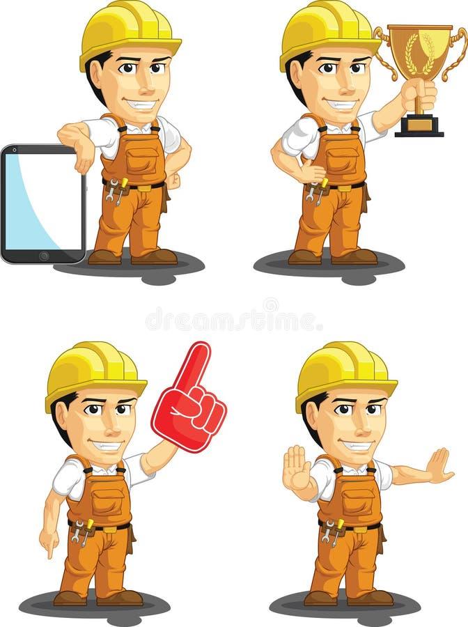Download Industrial Construction Worker Customizable Mascot Stock Vector - Image: 34692229