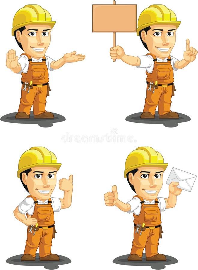 Download Industrial Construction Worker Customizable Mascot Stock Vector - Illustration: 34692246