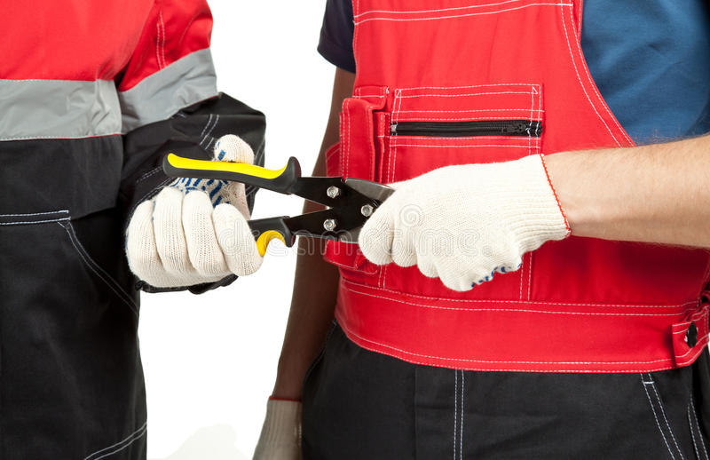 Industrial/construction workers in uniform stock photo