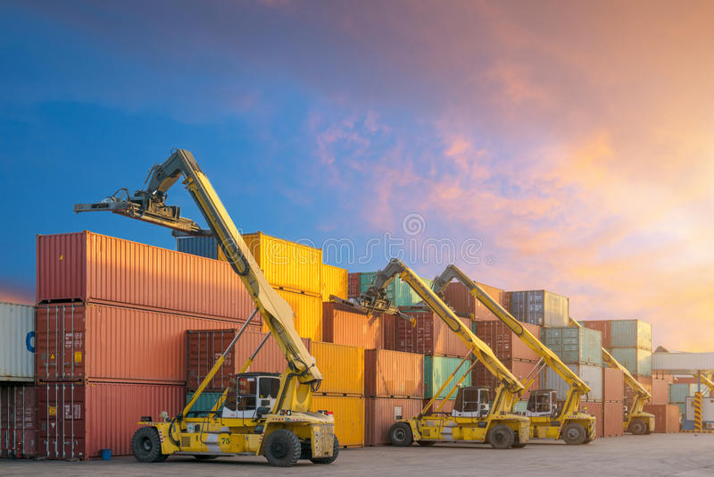 Industrial Container Cargo freight ship for Logistic Import Expo royalty free stock images