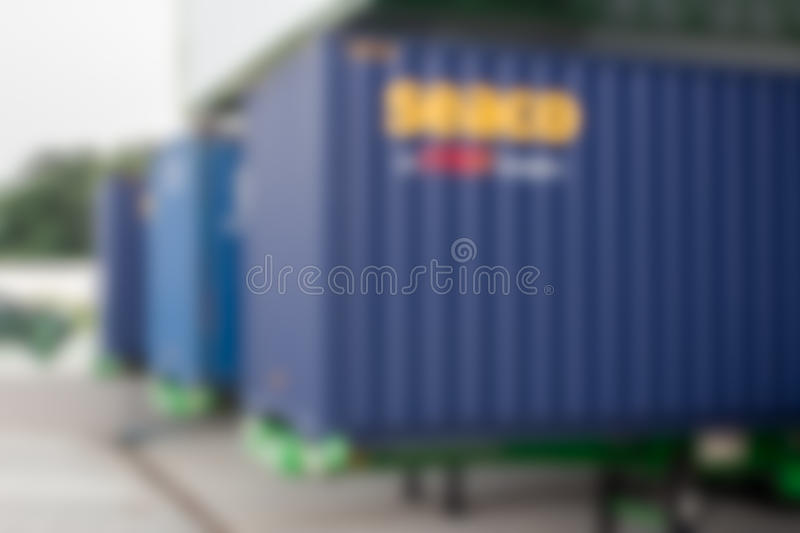 Industrial Container Cargo freight ship for Logistic Import Export concept. Blur royalty free stock image