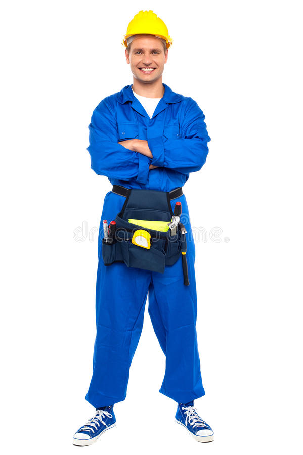 Download Industrial Contractor Posing With Crossed Arms Stock Photo - Image: 26395600