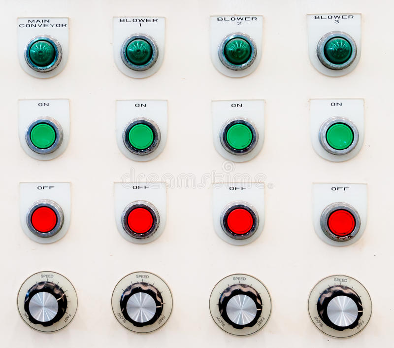 Download Industrial Control Panel Button Stock Photo - Image: 26820112