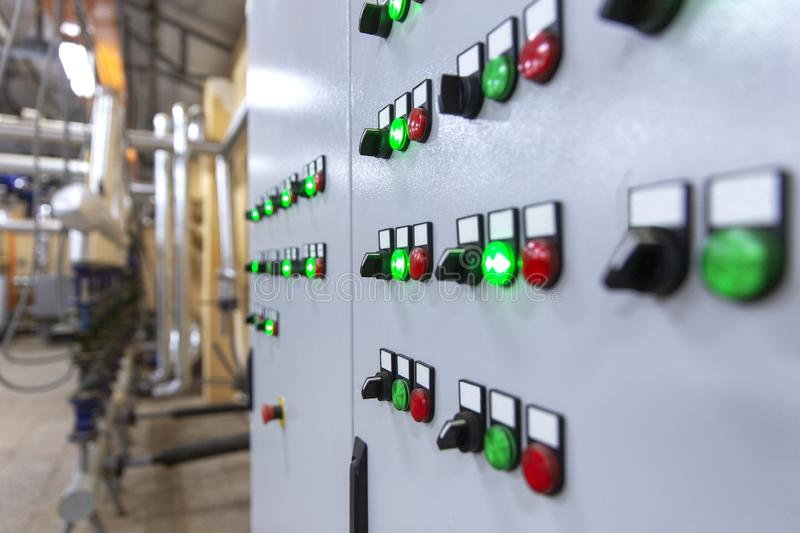 Industrial Control Panel royalty free stock photo