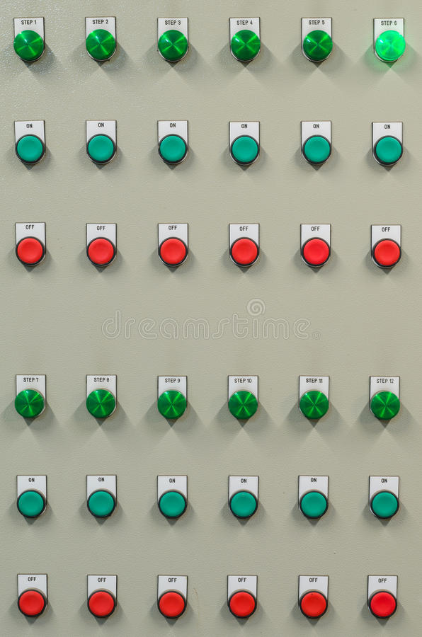 the industrial control panel to manage the plant  stock