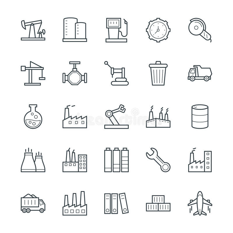Free Industrial Cool Vector Icons 3 Royalty Free Stock Image - 71406256