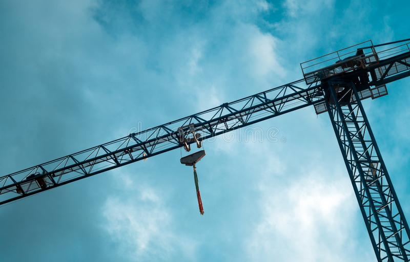 Industrial crane details royalty free stock image