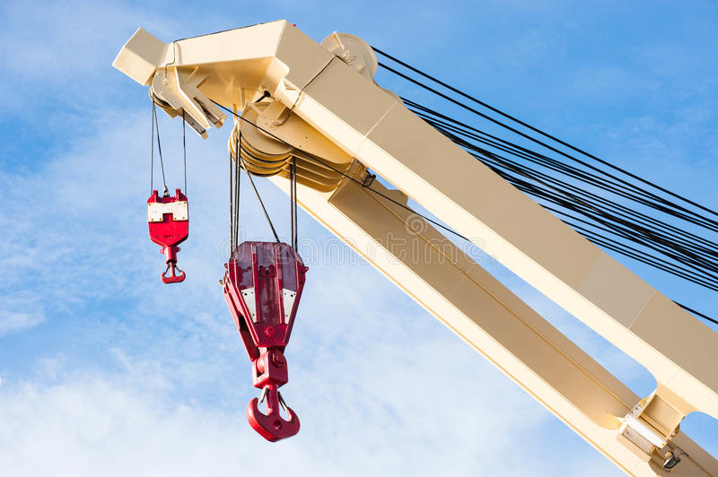 Industrial crane royalty free stock photos