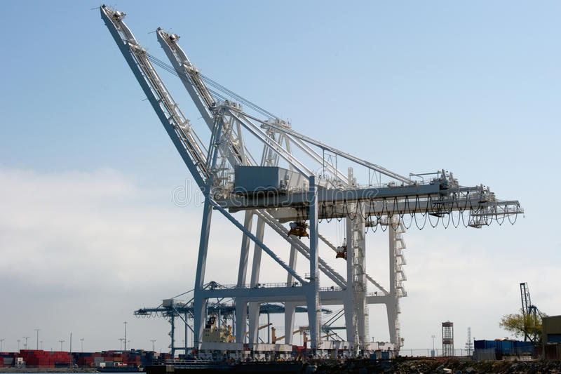 Download Industrial cranes stock image. Image of harbour, nobody - 25071419