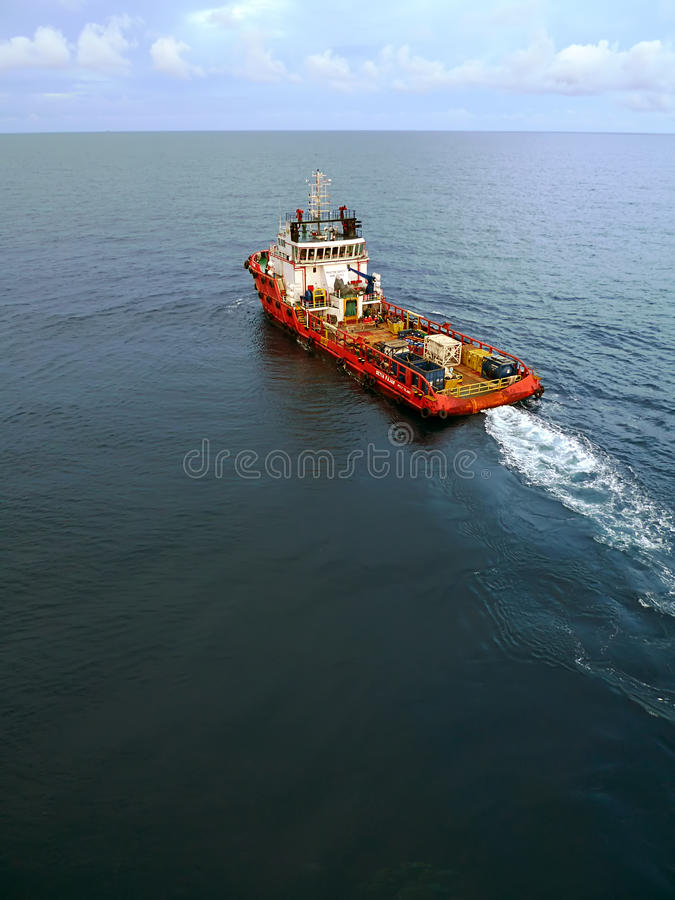 Download Industrial Crew And Supply Boat For Oil And Gas Offshore Platform Editorial Stock Photo - Image: 34882683