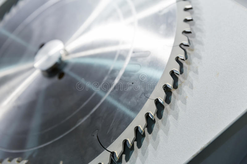 Industrial cutter. Macro of big industrial cutter stock photo